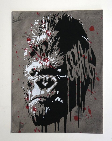 "Ostfug: ""Gorilla"" Stencil"