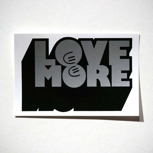"Dave the Chimp: ""LoveMore-Silver"" - Sticker - salzigberlin"