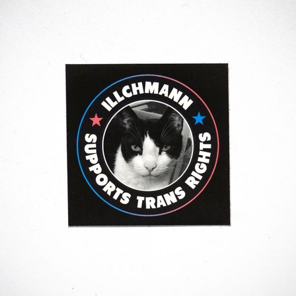 Illchmann Sticker: Supports Trans Rights - Aufkleber aus Berlin - Streetart Galerie SALZIG