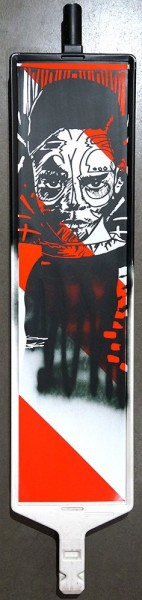 "FLOCKE//ART: ""Innocence III"" - Fineart Stencil / Spraypaint on safety bollard"