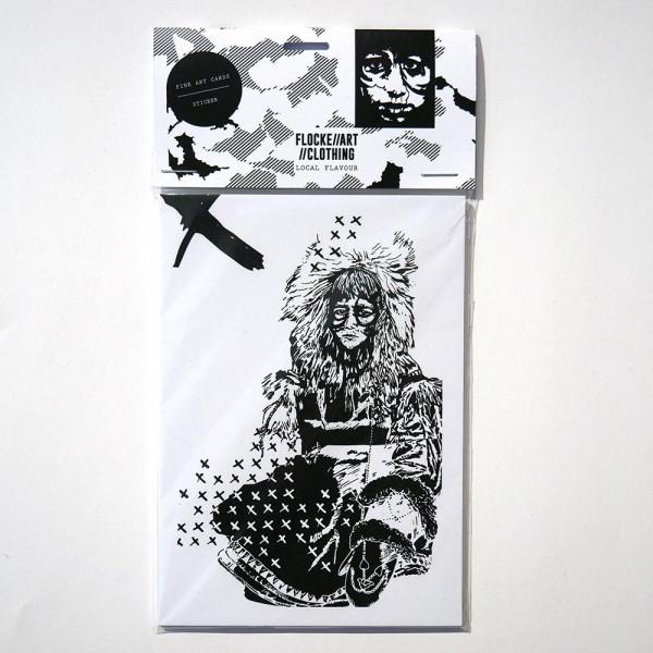 Flocke: Fine Art Postcard and Sticker Set 4 - A6 - berlin