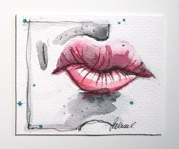 "Susanne Wilke: ""Kiss the world, it needs it!"" - Apo - Aquarell"