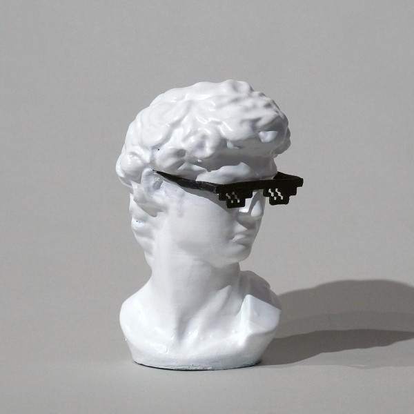 "Felikz the Fazke: ""Thug Dave"" - Skulptur - 3D Druck - SALZIGBerlin Streetart-Galerie"