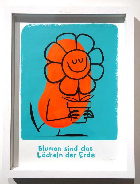"""Dave the Chimp: """"Blumen sind das Lächeln der Erde"""" - SALZIG Berlin Streetart Gallery"""