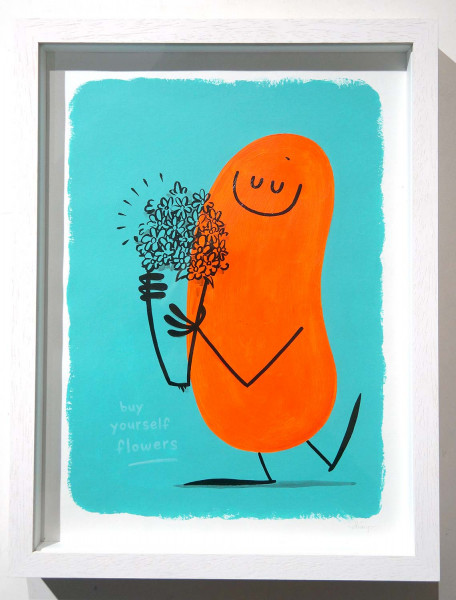 "Dave the Chimp: ""buy yourself flowers"" - SALZIG Berlin Streetart Gallery"