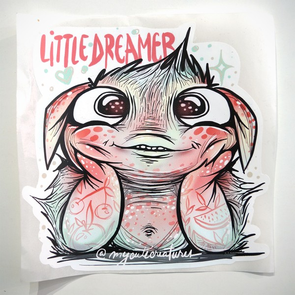 "My Cute Creatures: ""Little Dreamer"" - Sticker Big"