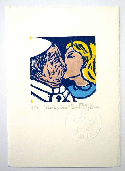"Prizmu: ""Fantasy Love"" - Holzdruck auf Papier - SALZIG Berlin Gallery"