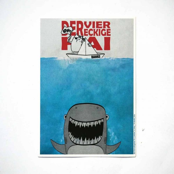 "Der viereckige Hai X a Sticker a Day X Danke_thx: ""Jaws"" - Sticker"