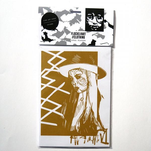 Flocke: Fine Art Postcard and Sticker Set 3 - A6 - salzig berlin