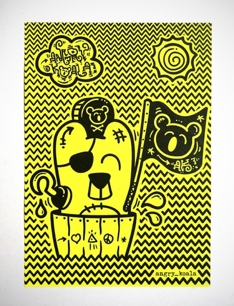 """Angry Koala: """"Neon Pappla"""" Aufkleber"""