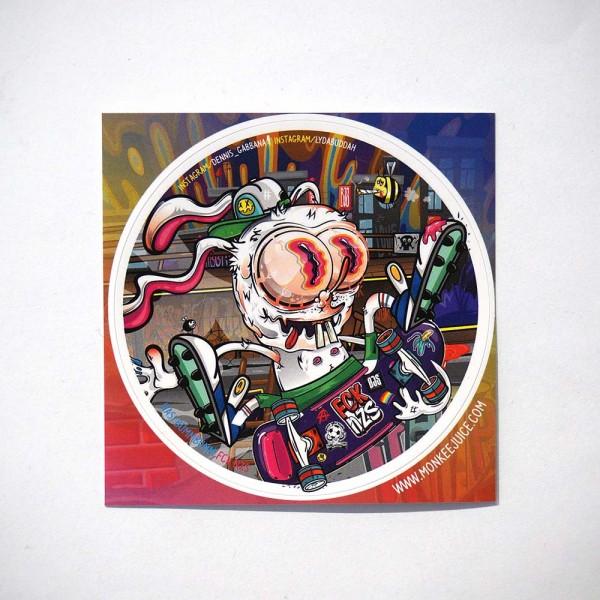 Monkeejuice - Hasi Bumm Bumm Sk8 Or Die - Sticker @salzigberlin
