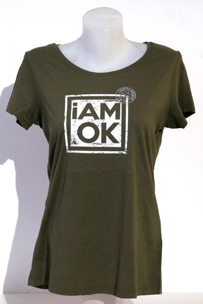 iAMOK:  Poststempel Khaki - lässiges Woman T-Shirt
