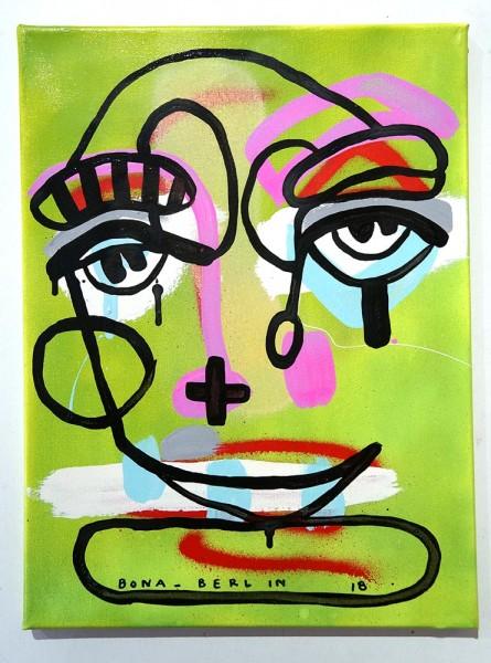 Bona Berlin: Face III - mixed media on canvas