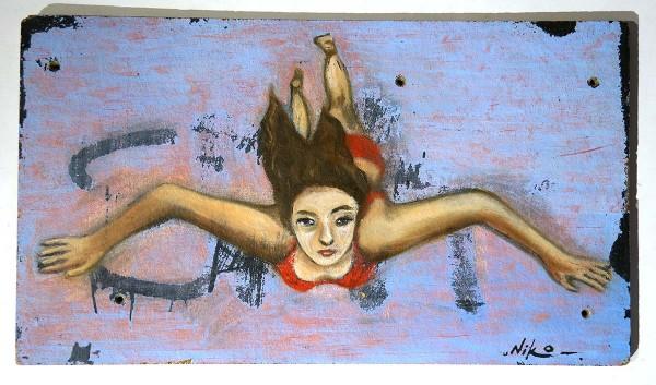 "Niko Streetart: ""Swimming / Flying"" - salzigberlin galerie"