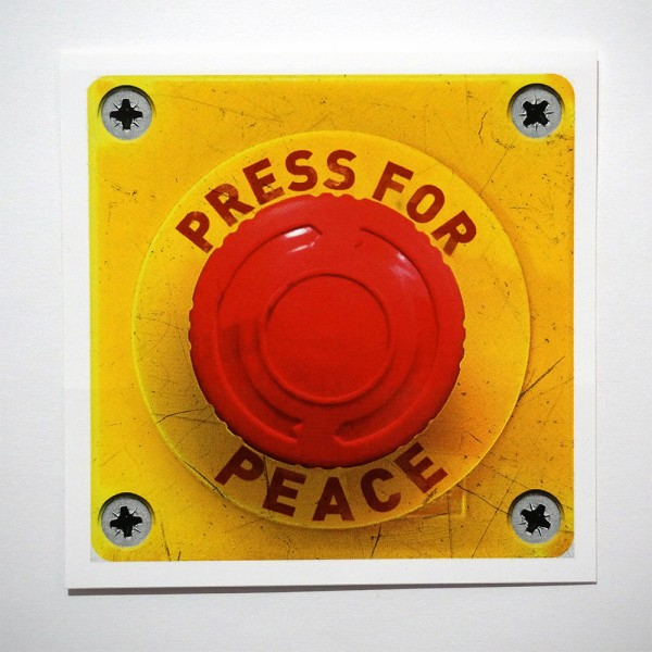 "Chuk: ""Press For Peace"" - Sticker"