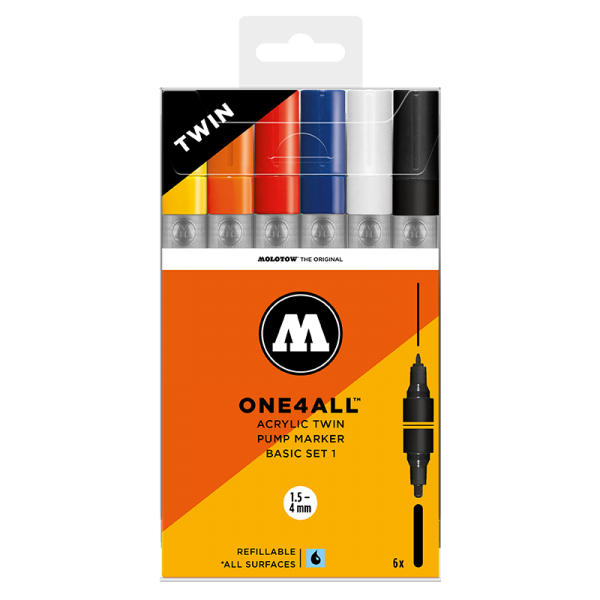 Molotow: ONE4ALL™ ACRYLIC TWIN Basic-Set 1