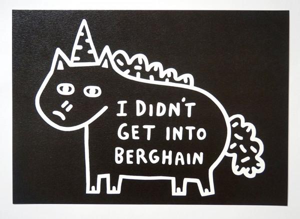 """Roydraws: """"I Didn't Get Into Berghain"""" - Print - salzigberlin"""