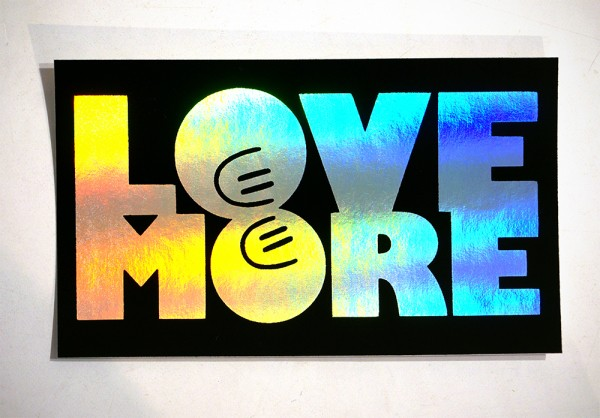 "Dave the Chimp: ""Love More - Rainbow"" Sticker"
