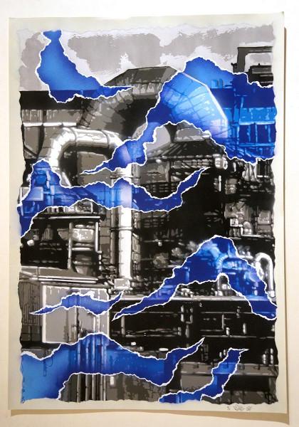 Fatal: Kraftwerk - Blau - @ salzig berlin