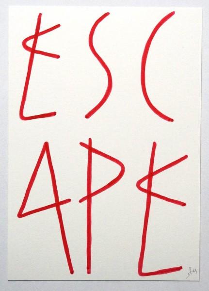 "SP 38: ""Escape"" - Original on Paper, signed, 2019 - Streetart Gallery"