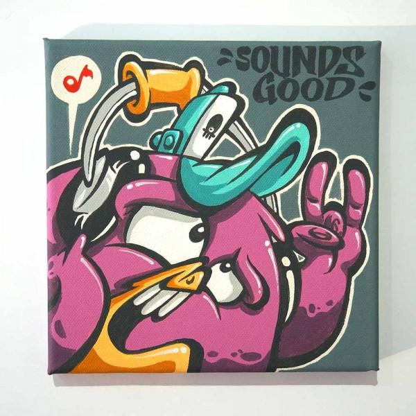 "Haevi: ""Sounds Good""  - original on canvas - available at SALZIG Berlin"