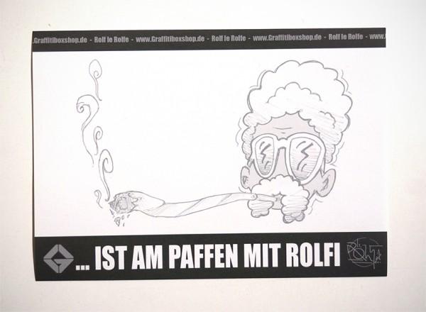 "ROLF LE ROLFE & Graffitiboxshop: ""...ist am paffen mit Rolfi"" - Collaboration Sticker"