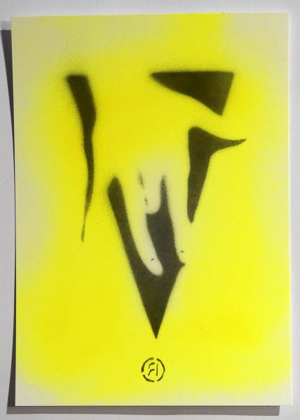"Ostap: ""Pure Selfmade - Yellow"" - Handmade Stencil - SALZIG Berlin"
