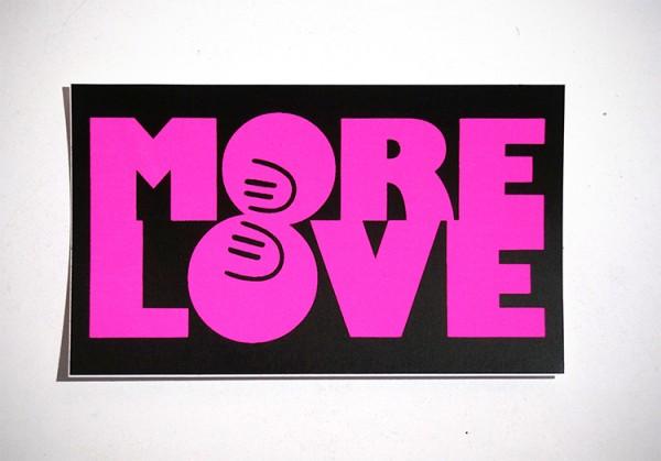 "Dave the Chimp: ""More Love"" - Sticker"