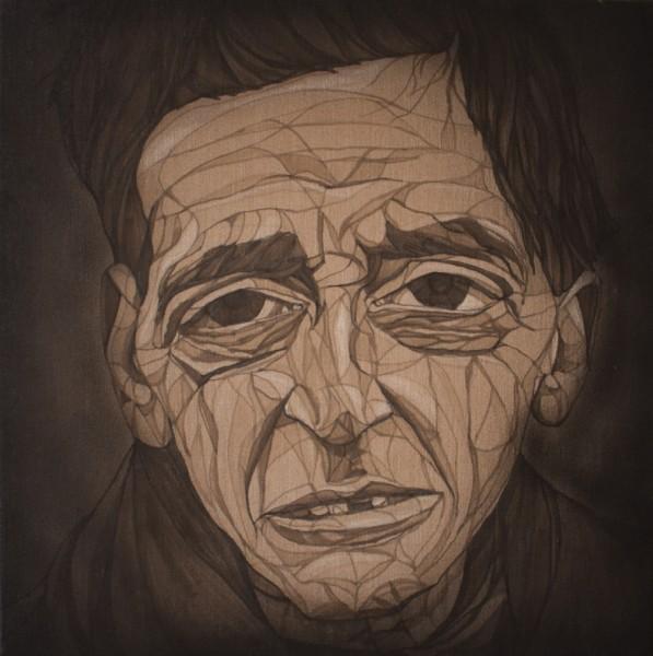 "Lake: ""Portrait"" Acryl auf Leinwand Abmaße: 50 x 50 cm"