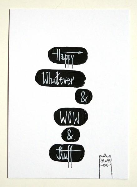 "Rabea Senftenberg: ""Happy"" original postcard"