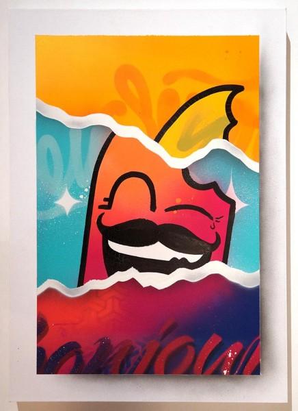 """Señor Schnu: """"Bonjour Canvas 1"""" - SALZIG Berlin - Streetart Gallery Friedrichshain"""