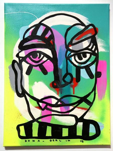 Bona Berlin: Face II - mixed media on canvas