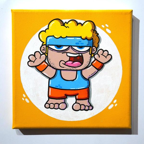 "Brainfart: ""Fitness Style"" - mixed media on canvas - SALZIGBerlin"