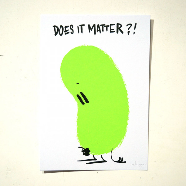 """Dave the Chimp: """"Does It Matter"""" Postcards from Life -SALZIG Berlin"""