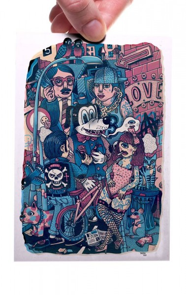 Street Gang - Postkarte A6
