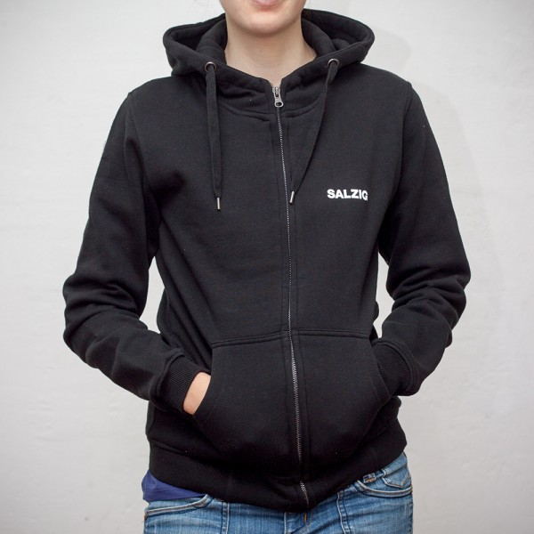 Zipper Hoody Minilogo, high-necked (w)