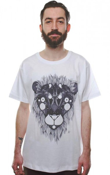 Yackfou - Löwe T-Shirt Weiß
