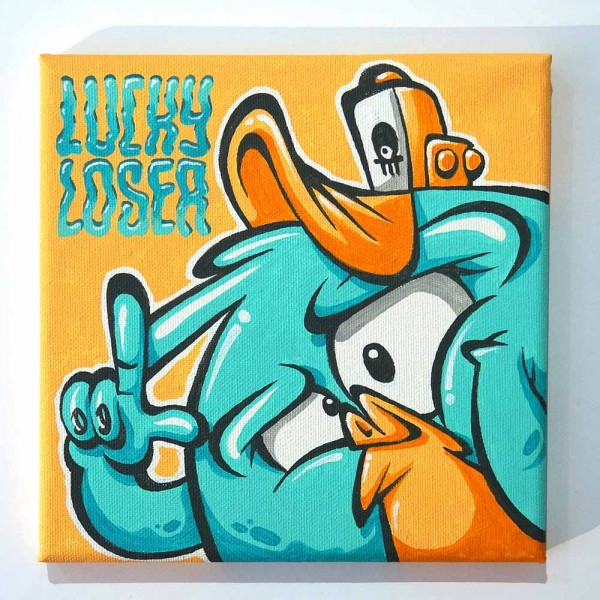 "Haevi: ""Lucky Loser""  - original on canvas - SALZIG Berlin"