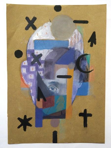 """Guido Palmadessa: """"Los Pueblos - 10"""" - painting"""