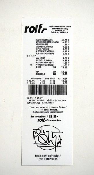 "ROLF LE ROLFE: ""Rolf Kassenbon"" - Sticker"