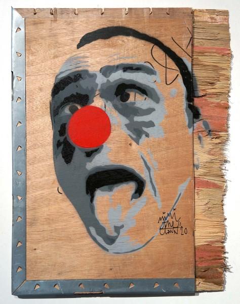 "Mimi the ClowN: ""La Belle Langue on wood"" - SALZIG Berlin - Signature"