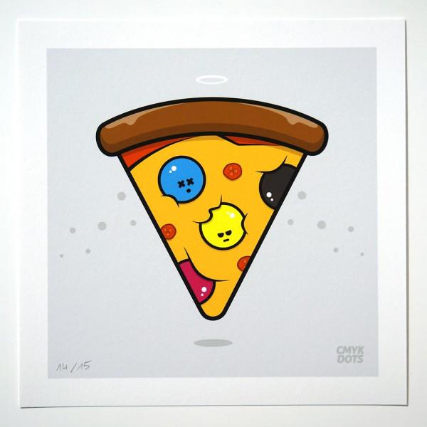 CMYK Dots: Holy Pizza (limitierte Edition) - Streetart at SALZIG