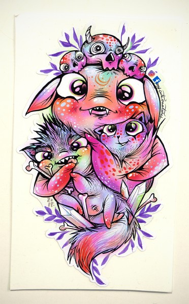 """My Cute Creatures: """"Monster Family"""""""