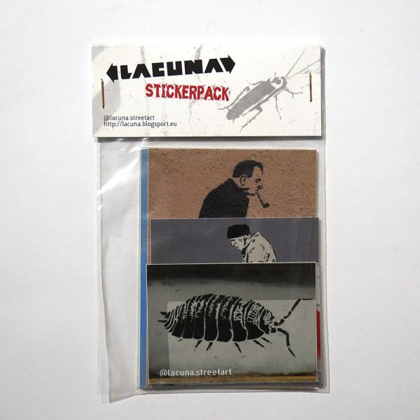 """Lacuna: """"Stickerpack"""" - Sticker at SALZIG Berlin"""