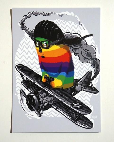 "Yackfou: ""Colorpilot"" - Postkarte A6"
