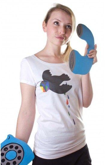Yackfou - Geometric Bird - Women T-Shirt
