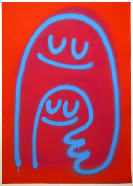 """Dave the Chimp: """"Together Forever - RedBlue"""" 2011 - SalzigBerlin"""