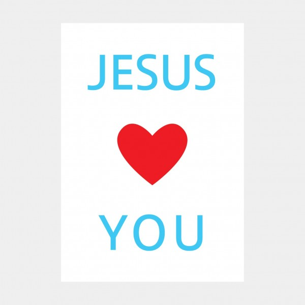 "Oliver O. Rednitz: "" Jesus Loves You""  - DINA2, 42 x 59,4 cm"