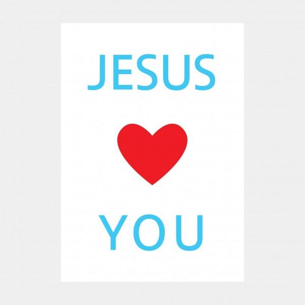 """Oliver O. Rednitz: """" Jesus Loves You"""" - DINA2, 42 x 59,4 cm"""