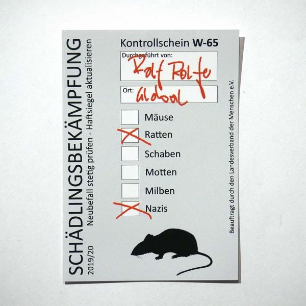 Es ist ROLF ihr Nutten - Aufkleber aus Berlin - Streetart Galerie SALZIG